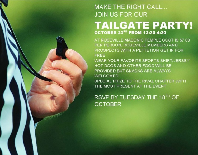 Roseville Chapter Tailgate Party