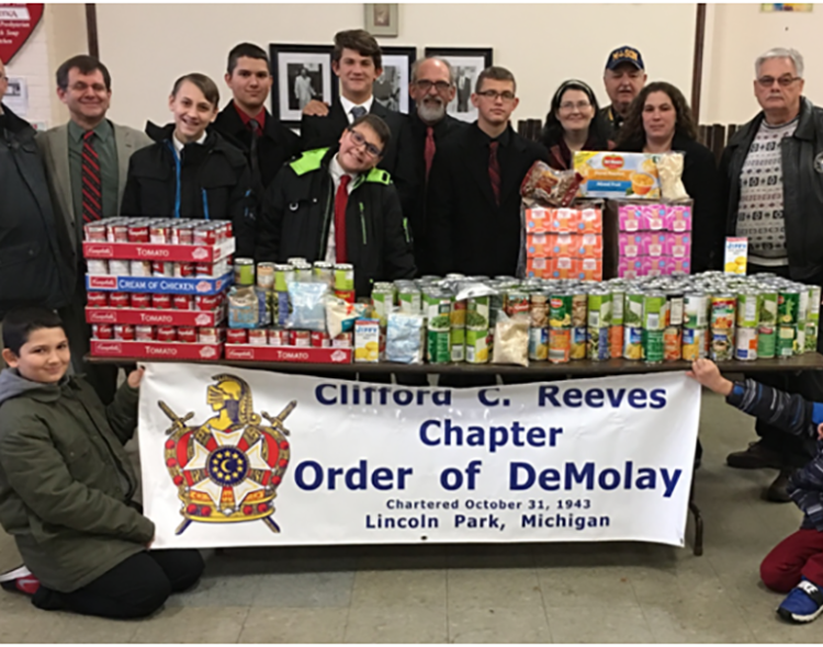 Clifford C. Reeves DeMolay Chapter Donates to Less Fortunate